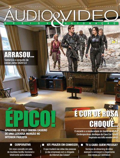 Projeto de home cinema para luxuosa mansão em Campinas ganha capa de Revista
