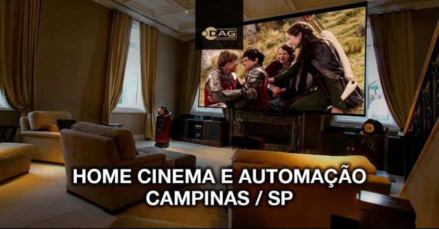 Projeto de sala de home cinema e automação para luxuosa mansão em Campinas / SP | Dag Brasil