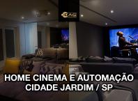 Projeto de Sala de Home Cinema para luxuosa apartamento no condomínio Cidade Jardim em São Paulo | Dag Brasil