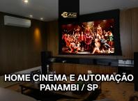Projeto de sala de home cinema e automação para luxuoso apartamento no bairro do Panambi em São Paulo | Dag Brasil