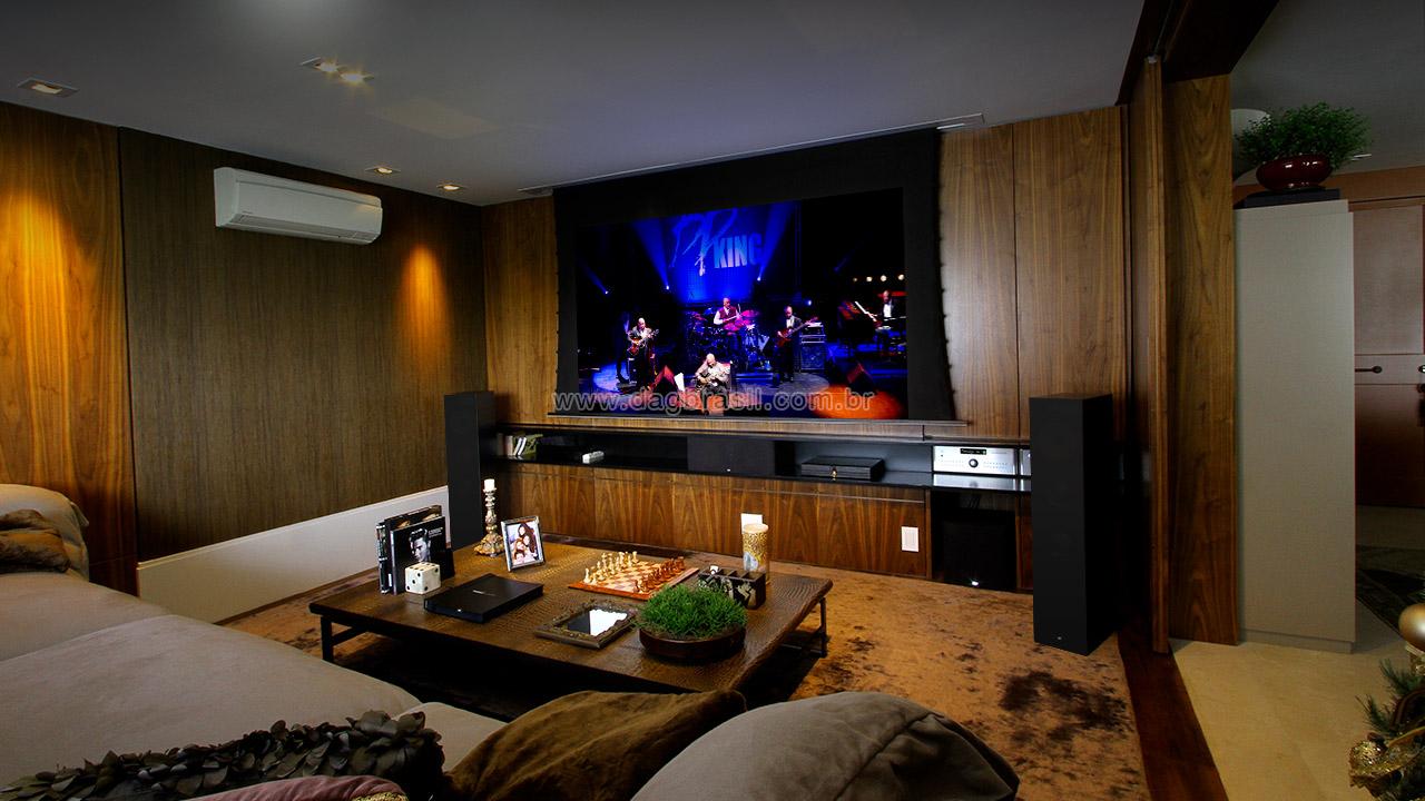 Projeto de sala de home theater | Sala de home theater com caixas B&W em São Paulo | Dag Brasil