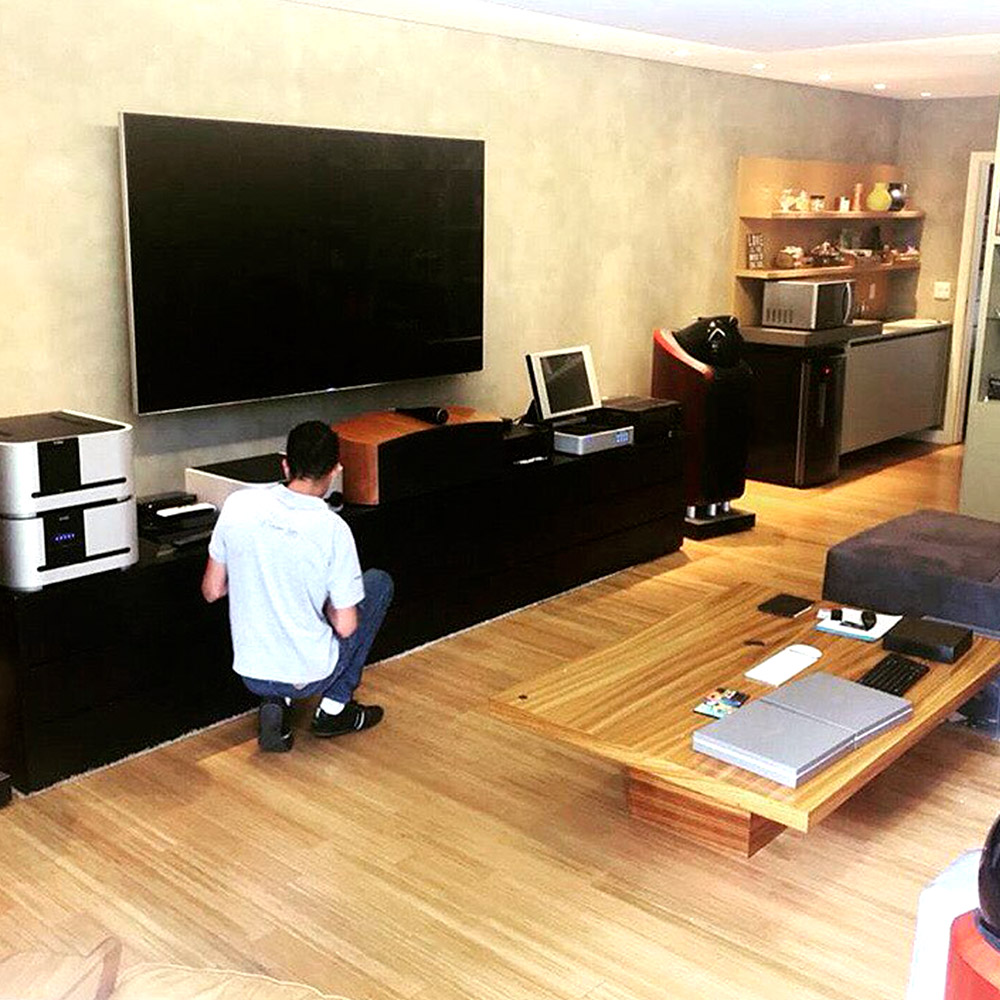 Projeto de home theater - Ajustes de home theater