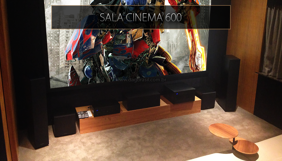 Sala Home Cinema 600 - Showroom DAG Brasil Jd. Anália Franco