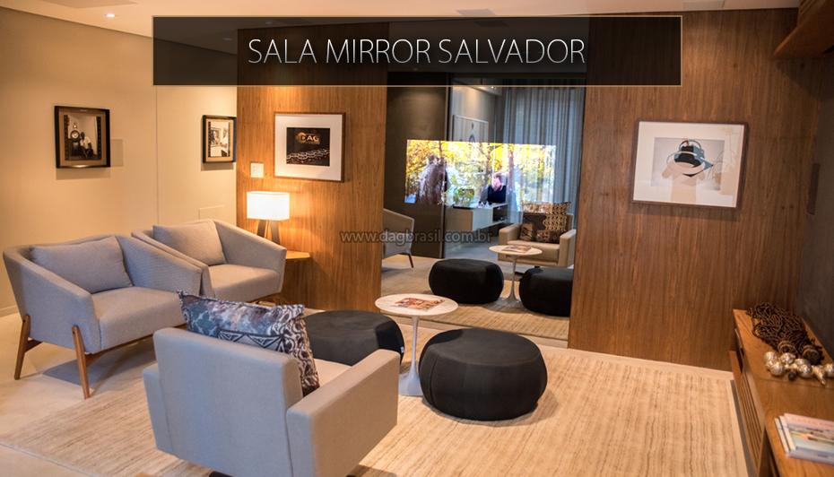 Sala Mirror Salvador - Sala de home theater com TV Espelho MirrorTV - Showrrom DAG Brasil Salvador - Bahia