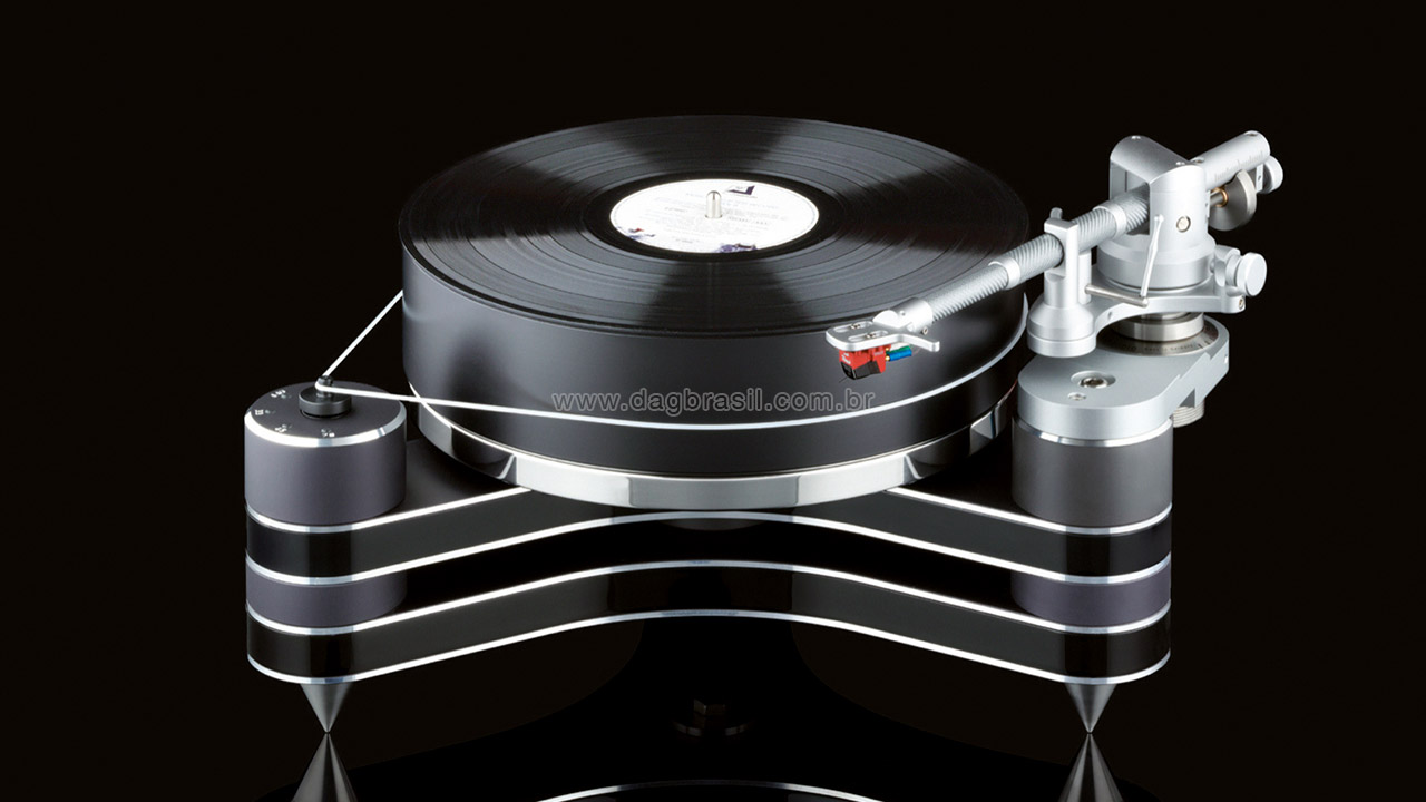 Toca-discos High-end - Vitrola, toca discos, discos de vinil