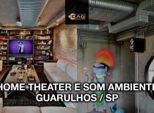 Projeto de home theater, som ambiente e automação residencial para apartamento em Guarulho / SP | Dag Brasil