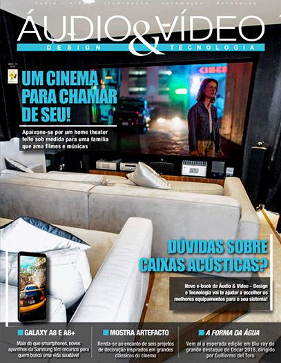 Revista Áudio & Vídeo Design destaca projeto de home cinema e automação para cobertura no Jd. Anália Franco - DAG Brasil