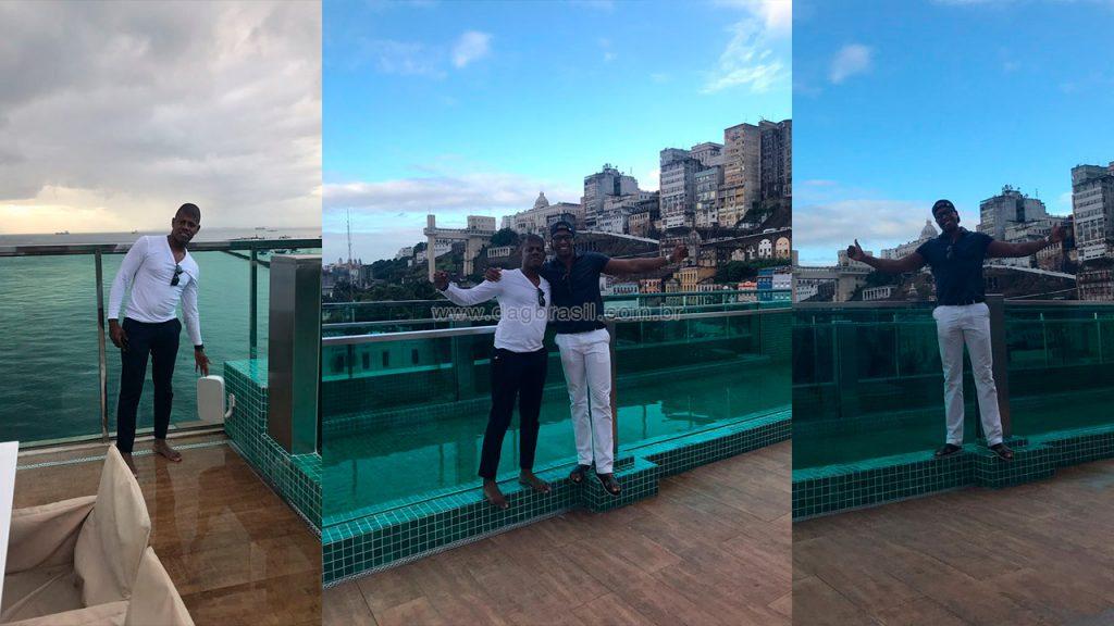 Projeto de som ambiente para área da piscina em luxuosa cobertura em Salvado