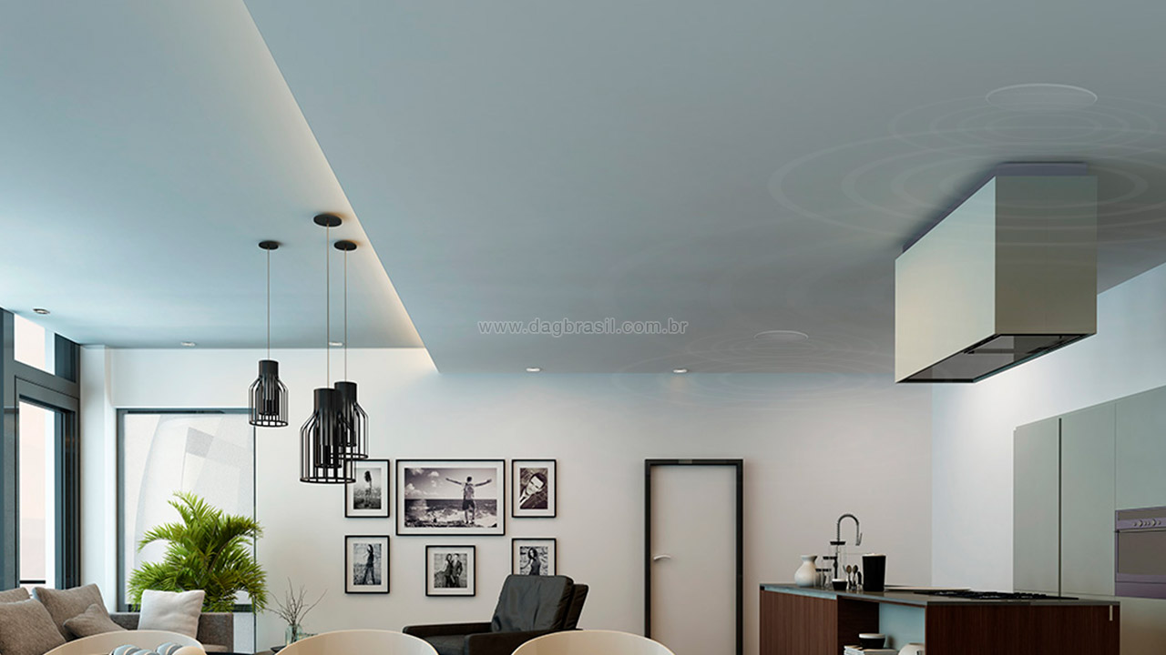 Som ambiente residencial com caixas B&W - Packs Sob Medida DAG Brasil