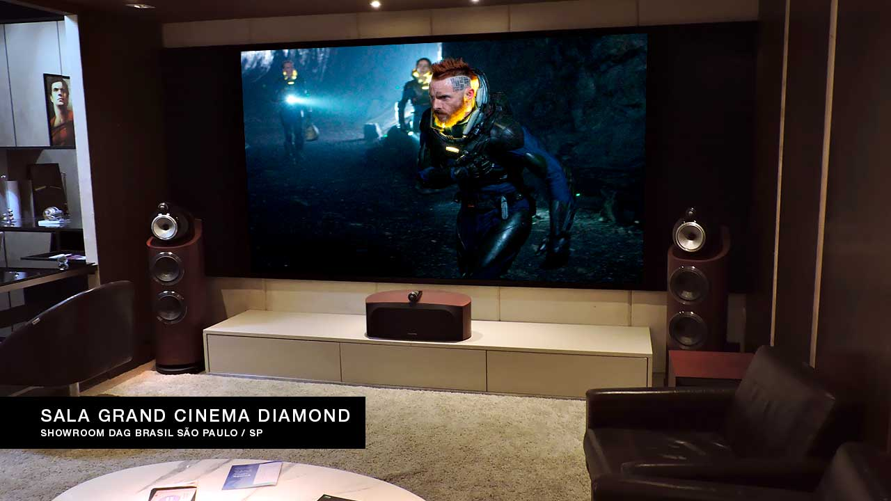Sala de Home Theater Grand Cinema Diamond | Showroom DAG Brasil