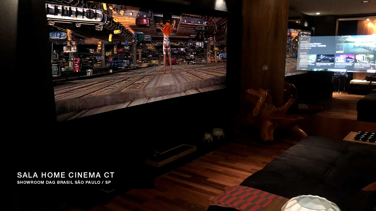 Sala de Home Theater Home Cinema CT | Showroom DAG Brasil