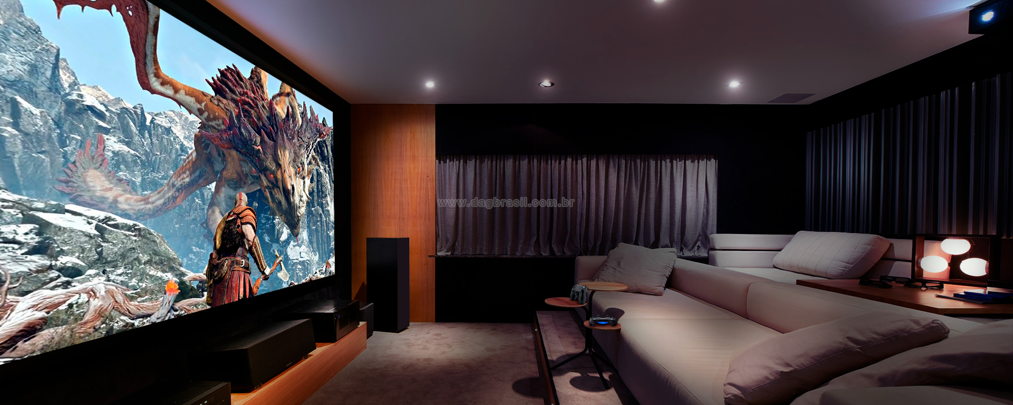 Projetos de salas de home theater e salas de home cinema com caixas Bowers & Wilkins | Dag Brasil