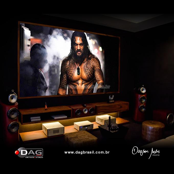 Projeto de home theater - Sala de home cinema com caixas B&W Bowers & Wilkins | DAG Brasil