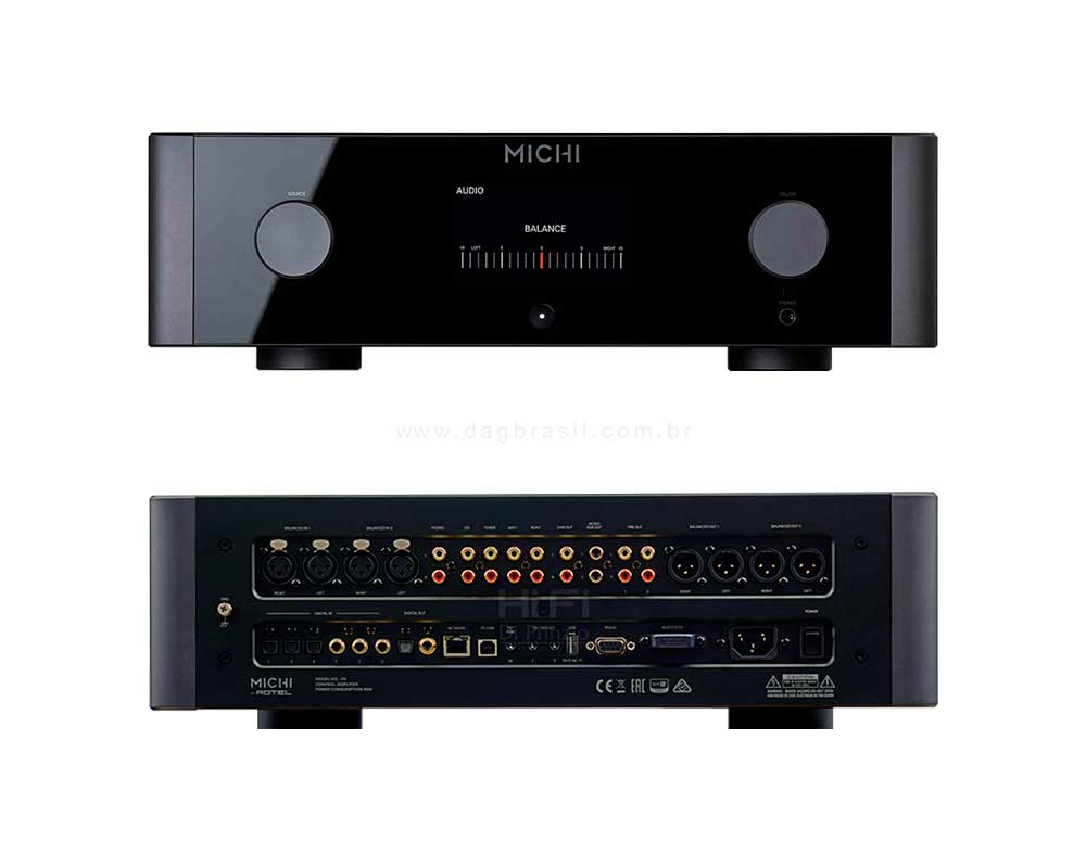 Pré-amplificador Michi P5 - Rotel Hi-fi | Dag Brasil