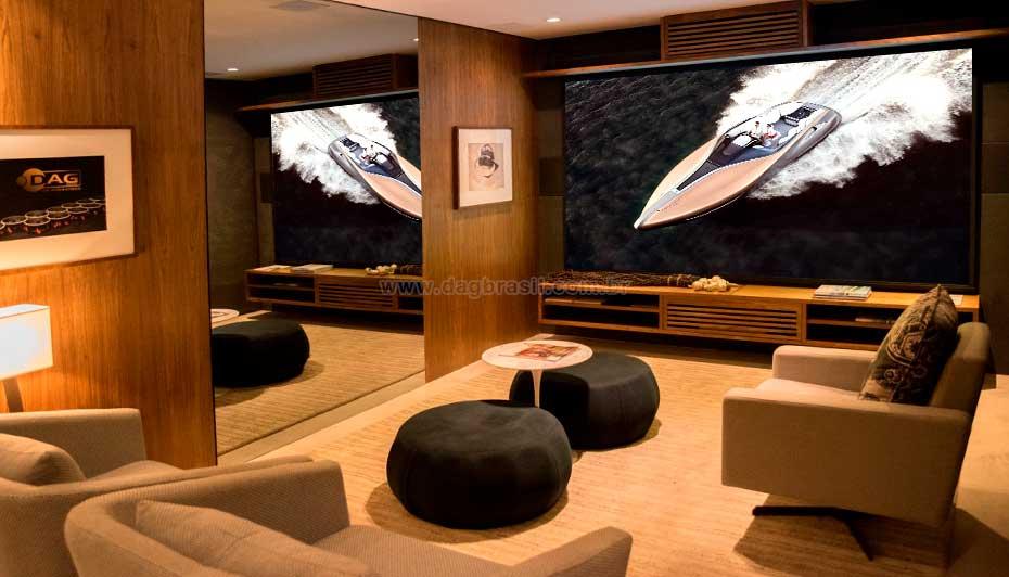 Sala de Home Cinema Showroom Loja de Automação Residencial em Salvador, Bahia | Dag Brasil