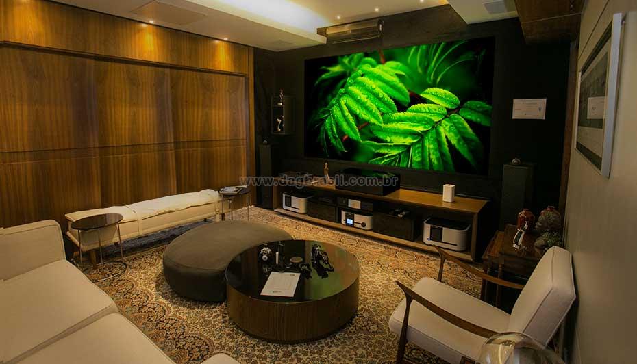 Sala de Home Cinema - Sala de Home Theater Hi-fi | Dag Brasil