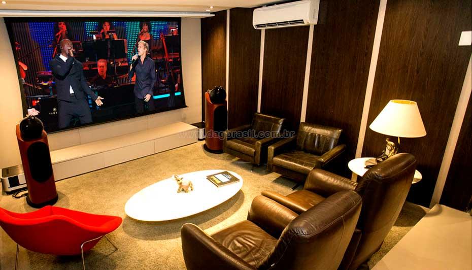 Sala de Home Cinema High-end - Sala de home theater de alto padrão | Dag Brasil