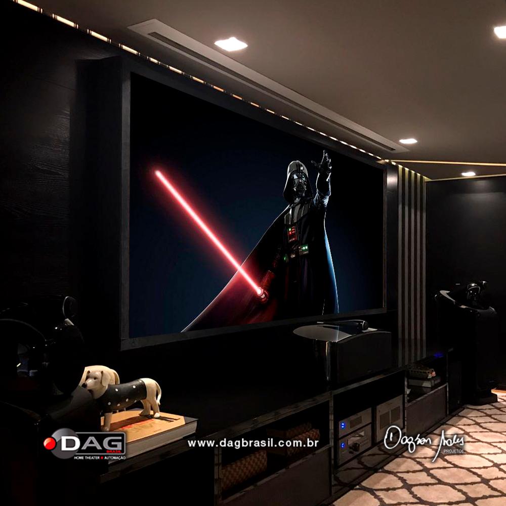 Projeto de home theater - Projeto de sala de home cinema | Dag Brasil