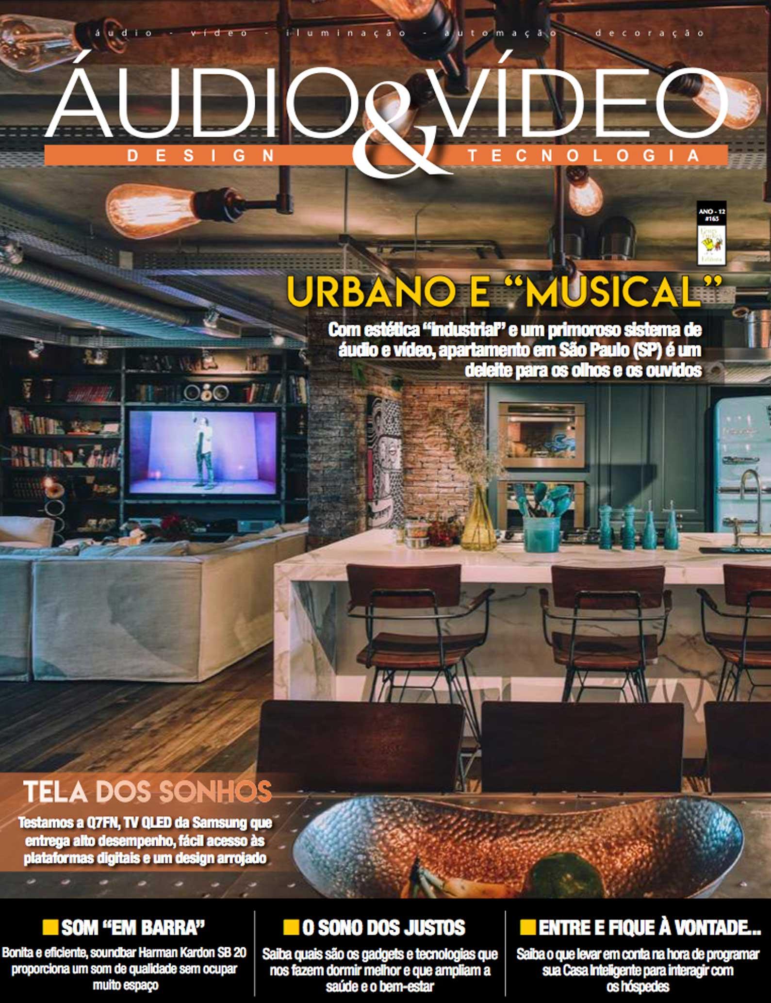 Revista Áudio & Vídeo 175 - Projeto de home cinema, automação e som ambiente para estilo apartamento em Guarulhos, SP - DAG Brasil