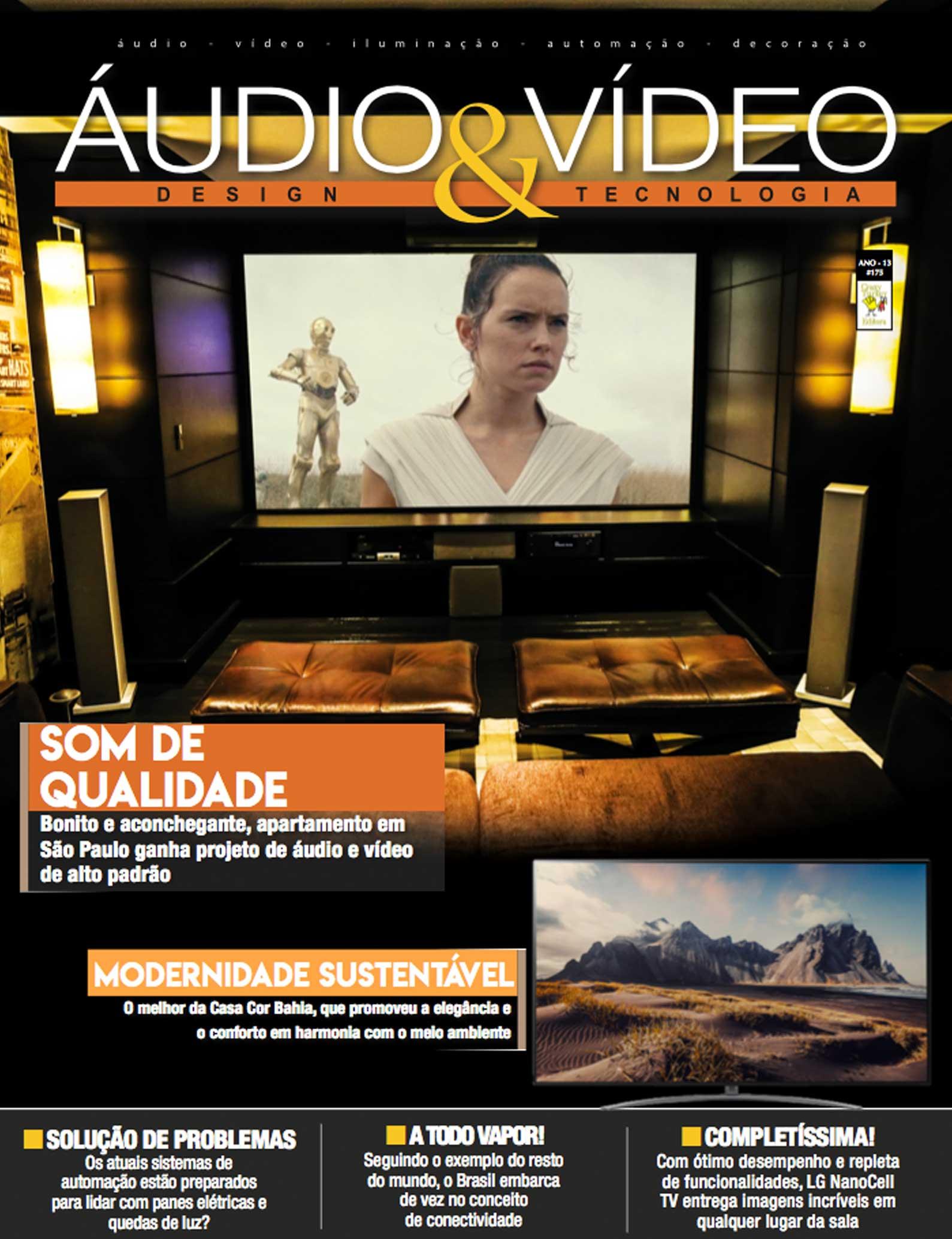 Revista Áudio & Vídeo 175 - Projeto de home cinema, automação e som ambiente para residência de alto padrão em Guarulhos, SP - DAG Brasil